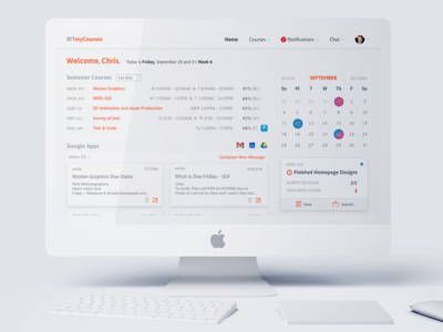 MyCourses Redesign redesign case study desktop rit uiux ux ui design product design
