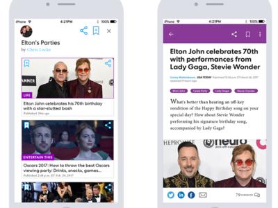 USA Today Life mobile first app design app pitch product design design uiux ux ui usa today