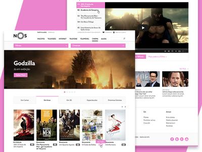 NOS Movie Theatres movie theatres movies telecom bundles user experience user interface ux ui website