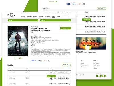 NOS Movie Detail movie theatres movies telecom user experience user interface ux ui website