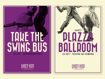 Lindy Hop Portugal - Posters type retro lindy hop dance vintage art direction posters branding