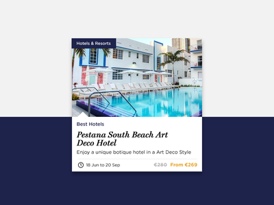 Promo display for Hotel promotions ux ui display product promo