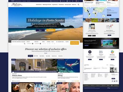 Pestana Hotels Website corporate bookings luxury hotel user experience user interface ux ui website