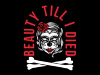 Beautiful Peace Sugar Skull Girl Badge