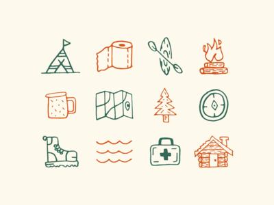 Camp Ivanhoe Icons