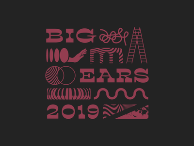 Big Ears Festival type shapes abstract festival merch