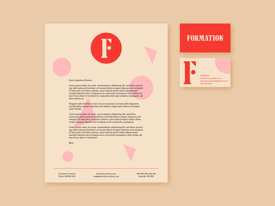 Formation Stationery Suite branding letterhead business card stationery identity
