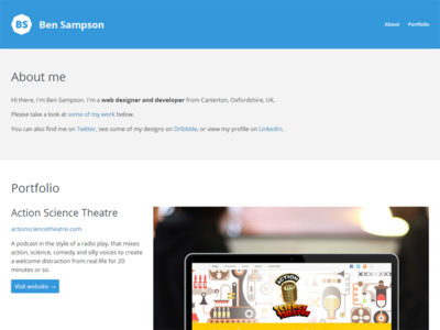Portfolio site - Ben Sampson portfolio web