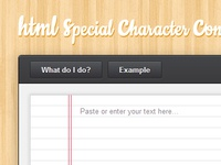 HTML special character converter