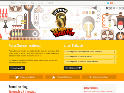 Action science theatre   the world s greatest podcast combining action  science and  undeniably  theatre