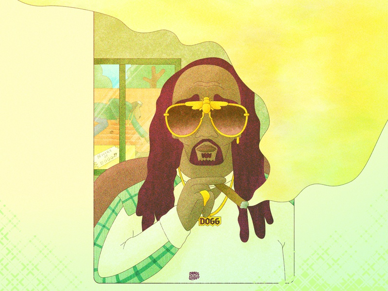 Hot Dogg Illustration poster inspiration poster a day poster art poster rappers rapper hiphop snoop dogg inspiration illustration inspiration illustrations illustration art painting digital painting creative vector illustration