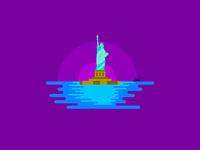 Statue of Liberty island illustration 🗽🇺🇸