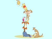 Winnie the Pooh balancing