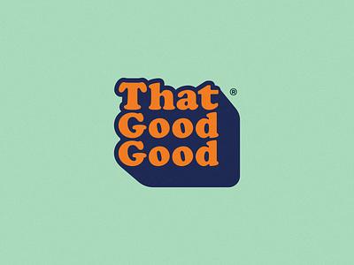 That Good Good Logo funky vegan restaurant branding logotype restaurant vector logo design branding