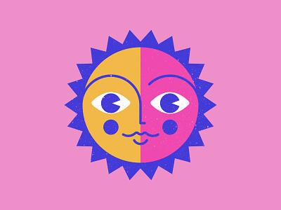 Sunday Doodle Boi character sunset sunny sunshine face sunday sun vector cartoon texture illustration