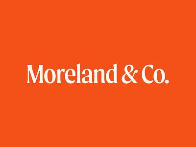 Moreland & Co. Logotype type moreland logotype personal logo typography design branding