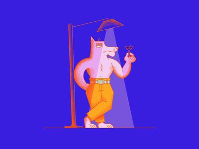 Dapper Doberman doberman light style animal dog character vector texture cartoon illustration
