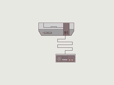 retro nes retro nes nintendo flat icon illustration