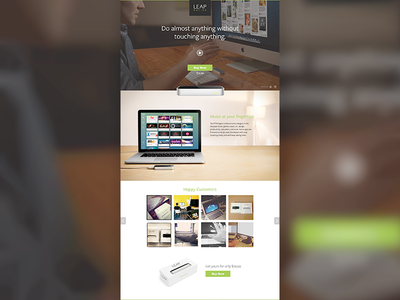 Landing Page landing page video gallery product clean website ui