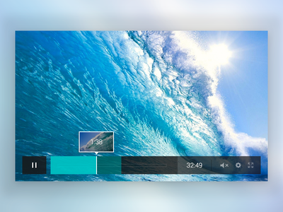 Video Player Concept video player transparent blur video widget ui media