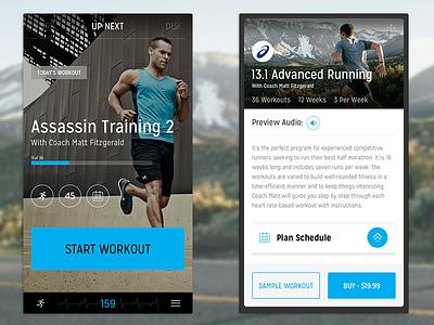Fitness App Exploration ios app iphone fitness ui design mobile overlay workout clean modal progress
