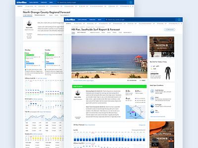 New Surfline video ui graphs charts layout web forecast surfline surf