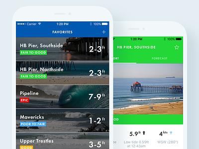 Surfline App onboarding favorites cam map app mobile surf