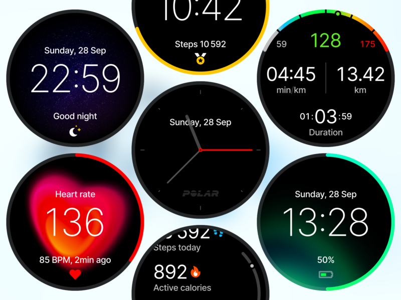 Watchface Polar concept watch design ui watchface watch polar