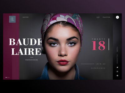 Baudelaire Fasion House 2018 uidesign uxdesign ui ux webdesign frontend techloirevalley frenchtech codecanary figma