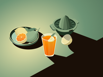 Juicy ui branding light design vector minimal illustration flat