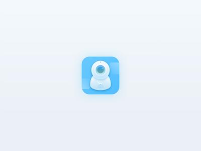 Camera icon app design 应用 3d icon ui