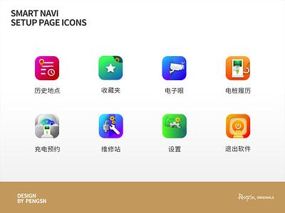 Smart Navi Setup Page Icons icon app bear ui design
