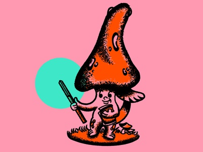 Yer a Wizard, Mushy. texture illustrator truegritsupply procreate illustration