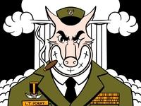 Lt. Porky cartoon illustration cartoon character cartoons retro cartoon character design retro digital illustration procreate illustrator illustration retrosupplyco