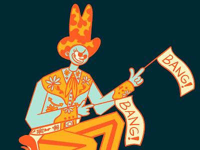 Cyclops Cowboy gun cyclops cowboy design cartoon character cartoon illustration character design digital illustration retrosupplyco truegritsupply illustrator procreate illustration