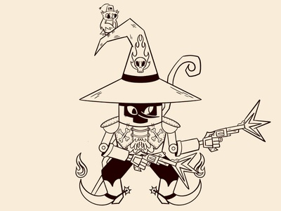 Wizard Cowboy retro retrosupplyco character design cartoon character concept art cartoon illustration digital illustration truegritsupply illustrator procreate illustration
