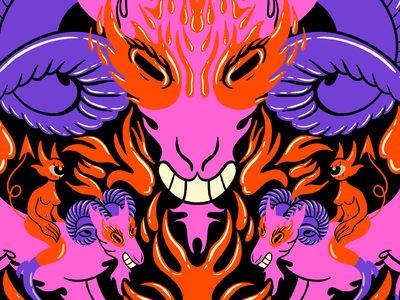 Aries ram aries zodiac design character design cartoon character cartoon illustration digital illustration truegritsupply illustrator procreate illustration