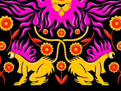 leo lion cyclops zodiac leo symmetry texture design digital illustration truegritsupply illustrator procreate illustration