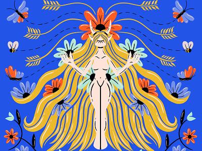 Virgo virgo zodiac signs symmetrical symmetry retrosupplyco truegritsupply design digital illustration illustrator procreate illustration