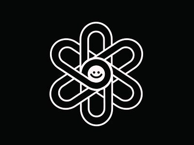 daisiechain studio logo chains chainsaw smiley face daisy flower illustration art design illustration illustrator brand identity cute branding branding and identity branding logo