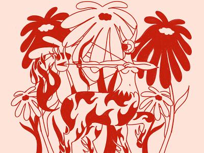 WIP of Sagittarius archer centaur sagittarius zodiac design digital illustration truegritsupply illustrator procreate illustration