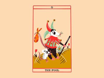 Trash Animal Tarot Deck - The Fool rat possum tarotdeck retrosupplyco design character design digital illustration truegritsupply illustrator procreate illustration