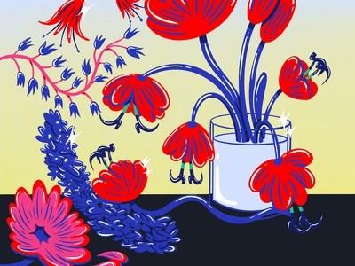 Still Life flowers floral stillife retrosupplyco character design digital illustration truegritsupply illustrator procreate illustration