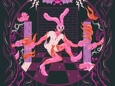 Weird Bunny character design design digital illustration truegritsupply illustrator procreate illustration