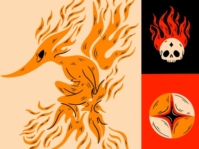 Mephit shield mythology skull folklore truegritsupply digital illustration procreate illustration