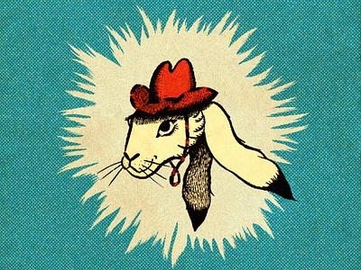 A Rootin' Tootin' Cowboy BunBun truegritsupply texture procreate illustration