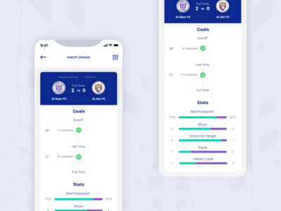 Football club app concept