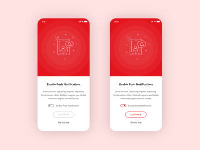 Onboarding screen - Push notifcations