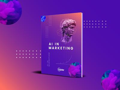 AI for Marketers - eBook Cover Design photoshop marketing design vector wacom digital art adobe illustrator abstract illustration concept art artificial intelligence