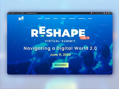 Reshape Virtual Summit Landing Page adobe figma ui landing page ui landing page